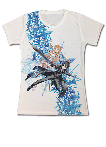 Sword Art Online - Sword Art Online Keyart Jrs T-Shirt L, an officially licensed product in our Sword Art Online T-Shirts department.