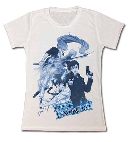 Blue Exorcist - Rin, Yukio & Shura Jrs. T-Shirts L officially licensed Blue Exorcist T-Shirts product at B.A. Toys.