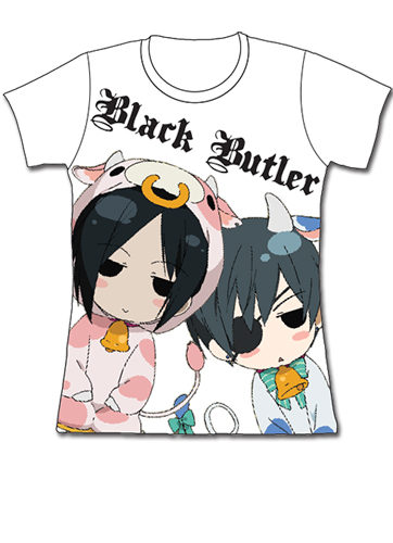 Black Butler Sd Cows Jrs T-Shirt - L, an officially licensed Black Butler product at B.A. Toys.