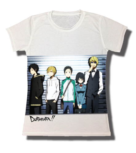 Durarara - Lineup Jrs. T-Shirt XL, an officially licensed Durarara!! product at B.A. Toys.