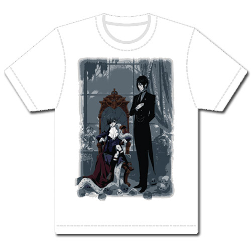 Black Butler Sebastain & Ciel T-shirt S, an officially licensed Black Butler product at B.A. Toys.