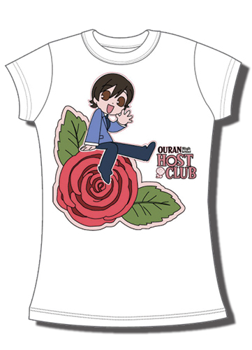 Ouran High School Host Club - Sd Haruhi Rose Jrs. T-Shirt L, an officially licensed product in our Ouran High School Host Club T-Shirts department.