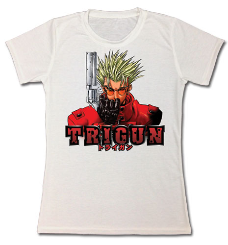 Trigun - Vash Jrs. T-Shirt S, an officially licensed product in our Trigun T-Shirts department.
