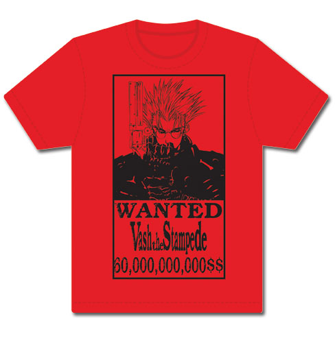 Trigun - Vash Wanted Men's T-Shirt XXL, an officially licensed product in our Trigun T-Shirts department.