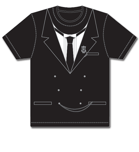 Black Butler - Faux Sebastian Tux Men's T-Shirt XL, an officially licensed Black Butler product at B.A. Toys.