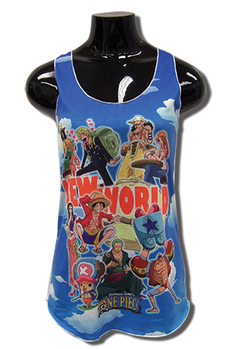 One Piece - New World Women's Tank Top L officially licensed One Piece T-Shirts product at B.A. Toys.