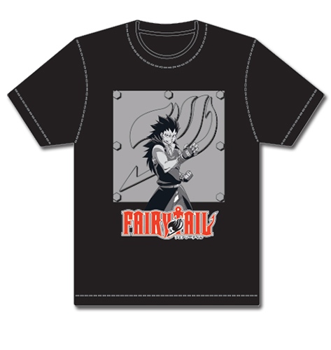 Fairy Tail Gajeel Iron Plate T-Shirt L, an officially licensed product in our Fairy Tail T-Shirts department.