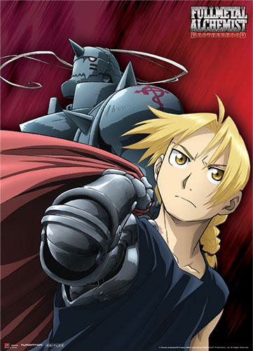 Fullmetal Alchemist Brotherhood The Elric Brothers Wallscroll officially licensed Fullmetal Alchemist Wall Scroll Posters product at B.A. Toys.