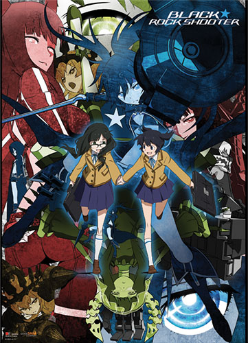 Black Rock Shooter Collage Wallscroll, an officially licensed Black Rock Shooter product at B.A. Toys.