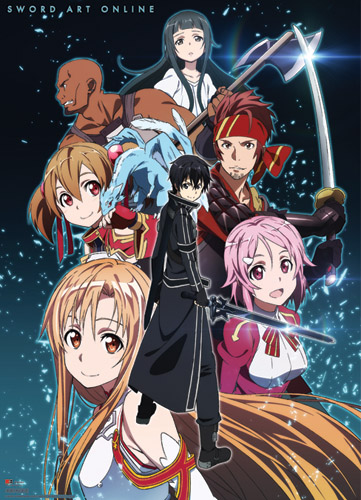Sword Art Online Group Shot Wallscroll officially licensed Sword Art Online Wall Scroll Posters product at B.A. Toys.