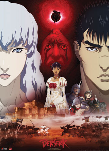 Berserk Guts, Griffith, & Charlotte Wallscroll, an officially licensed Berserk Wall Scroll