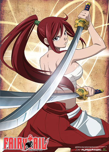 Fairy Tail Erza Wall Scroll, an officially licensed product in our Fairy Tail Wall Scroll Posters department.