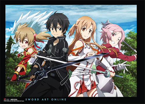Sword Art Online Group Wallscroll, an officially licensed product in our Sword Art Online Wall Scroll Posters department.