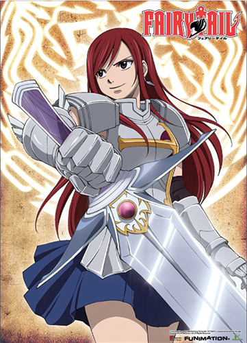 Fairy Tail Erza With A Sword Wallscroll, an officially licensed product in our Fairy Tail Wall Scroll Posters department.