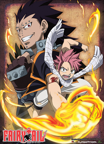 Fairy Tail Natsu Fire Fist & Gajeel Wallscroll, an officially licensed product in our Fairy Tail Wall Scroll Posters department.