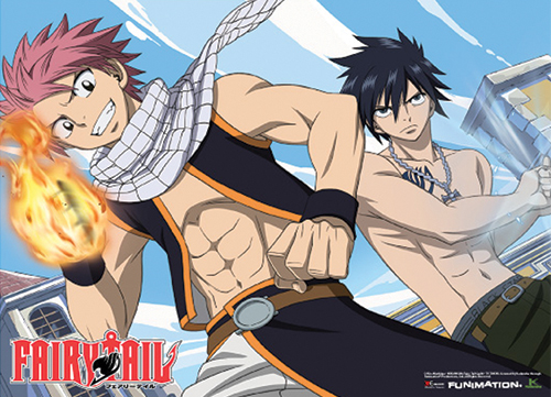 Fairy Tail Natsu & Gray Ready To Fight Wallscroll, an officially licensed product in our Fairy Tail Wall Scroll Posters department.