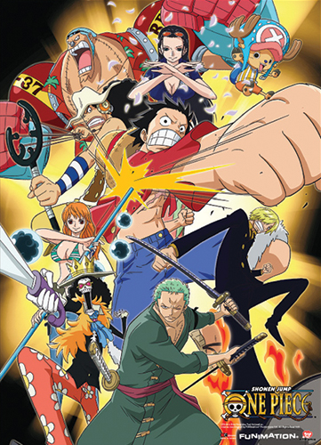 One Piece One Piece Crew Wallscroll officially licensed product at B.A. Toys.