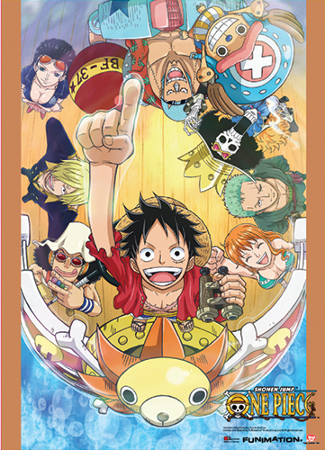 One Piece Group Go On Board Wallscroll, an officially licensed product in our One Piece Wall Scroll Posters department.