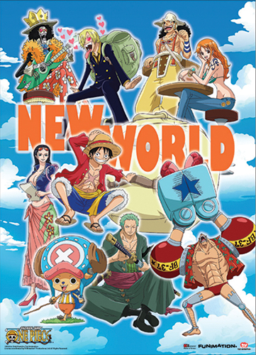 One Piece New World Wallscroll officially licensed product at B.A. Toys.