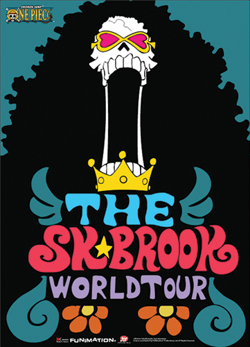 One Piece The Sk Brook World Tour Wallscroll officially licensed product at B.A. Toys.
