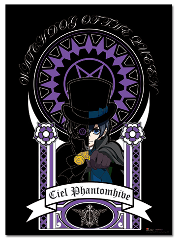 Black Butler Art Nuveau Ciel Wallscroll officially licensed product at B.A. Toys.