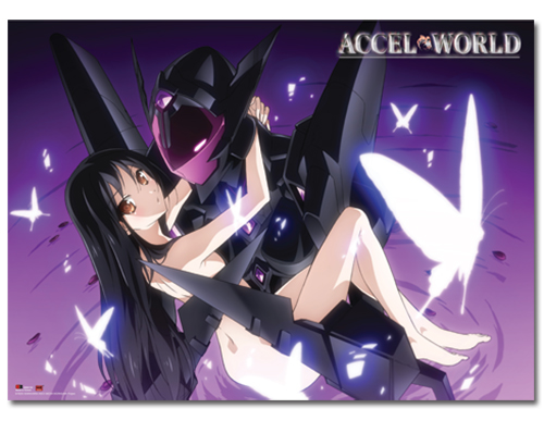 Accel World Black Lotus & Kuroyukihime Wallscroll, an officially licensed product in our Accel World Wall Scroll Posters department.
