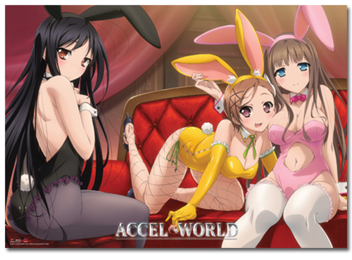 Accel World Bunny Girls Wallscroll, an officially licensed Accel World product at B.A. Toys.
