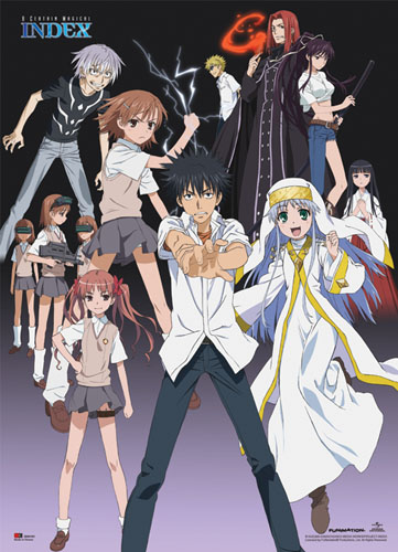 A Certain Magical Index - Groupshot Wallscroll, an officially licensed A Certain Magical Index Wall Scroll
