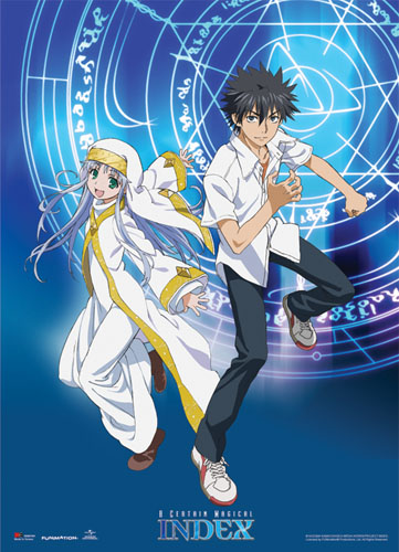A Certain Magical Index - Toma & Index Wallscroll, an officially licensed A Certain Magical Index Wall Scroll