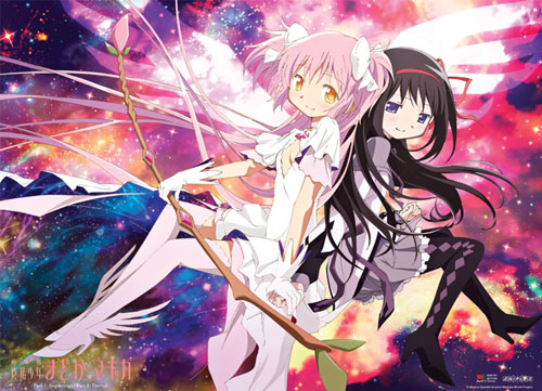 Madoka Magica Movie - Ultimate Madoka & Homura Wallscroll officially licensed Madoka Magica Wall Scroll Posters product at B.A. Toys.