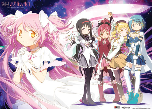 Modoka Magica Movie - Magical Girls Line Up Wallscroll officially licensed Madoka Magica Wall Scroll Posters product at B.A. Toys.
