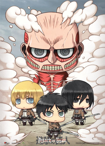 Attack On Titan - Sd Group Wallscroll, an officially licensed product in our Attack On Titan Wall Scroll Posters department.