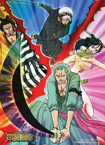 One Piece - Swordsmen Wall Scroll, an officially licensed product in our One Piece Wall Scroll Posters department.