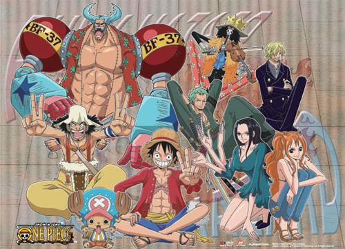 One Piece - Straw Hat Crew Grid Wall Scroll, an officially licensed product in our One Piece Wall Scroll Posters department.