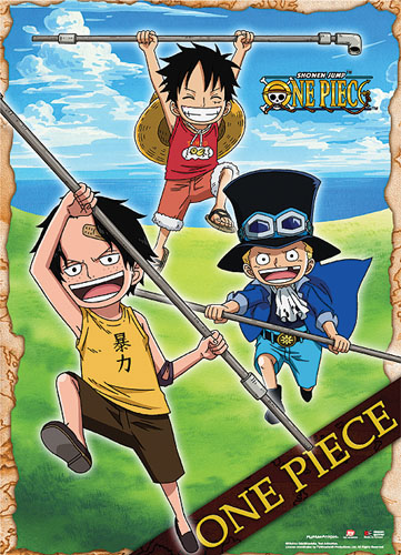 One Piece - Luffy & Ace Childhood Scene Wallscreen officially licensed product at B.A. Toys.