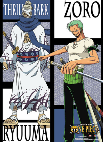 One Piece - Zoro Vs Ryuuma Wallscroll, an officially licensed product in our One Piece Wall Scroll Posters department.