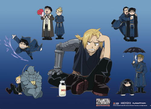 Fullmetal Alchemist Brotherhood - Fma Group 8 Wallscroll, an officially licensed product in our Fullmetal Alchemist Wall Scroll Posters department.