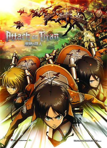 Attack On Titan - Regiment Attack Wall Scroll, an officially licensed product in our Attack On Titan Wall Scroll Posters department.