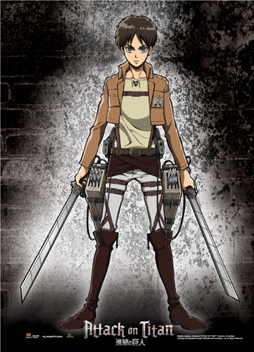 Attack On Titan - Eren Wallscroll officially licensed product at B.A. Toys.