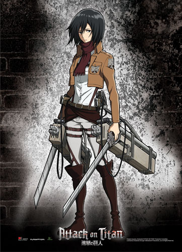 Attack On Titan - Mikasa Wallscroll officially licensed product at B.A. Toys.