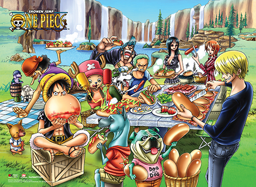 One Piece - Picnic Wall Scroll, an officially licensed product in our One Piece Wall Scroll Posters department.