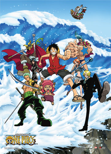 One Piece - Tidal Wave Wall Scroll, an officially licensed product in our One Piece Wall Scroll Posters department.