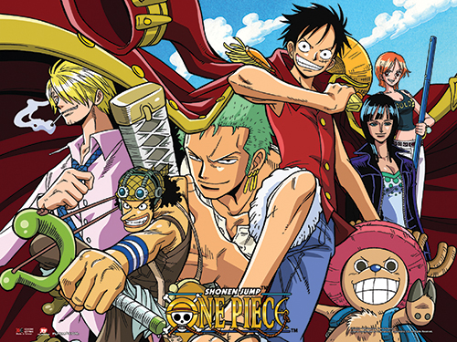 One Piece - Straw Hat Crew Collage Wall Scroll, an officially licensed product in our One Piece Wall Scroll Posters department.