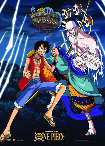 One Piece - Luffy Vs Enel Wallscroll, an officially licensed product in our One Piece Wall Scroll Posters department.