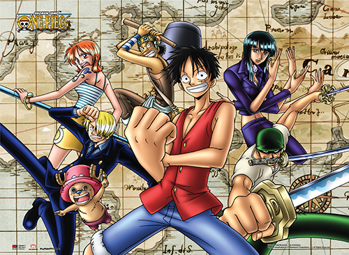 One Piece - Straw Hat Pirates Map Wall Scroll, an officially licensed product in our One Piece Wall Scroll Posters department.