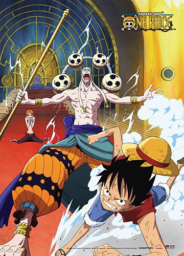 One Piece - Luffy & Nami V.S. Enel Wall Scroll, an officially licensed product in our One Piece Wall Scroll Posters department.