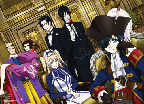 Black Butler 2 - Pirate Ciel And Group Wallscroll, an officially licensed product in our Black Butler Wall Scroll Posters department.