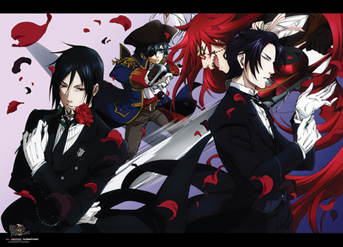 Black Butler 2 - Sebastian, Pirate Cell, Grwll And Claude Wallscroll officially licensed product at B.A. Toys.