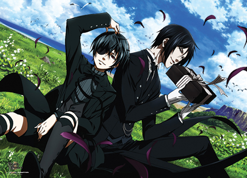 Black Butler 2 - Sebastian And Ciel Outside Wallscroll, an officially licensed Black Butler Wall Scroll