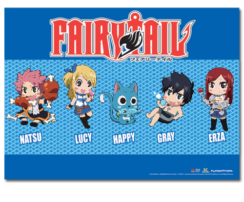 Fairy Tail - Sd Group 2 Wallscroll, an officially licensed product in our Fairy Tail Wall Scroll Posters department.